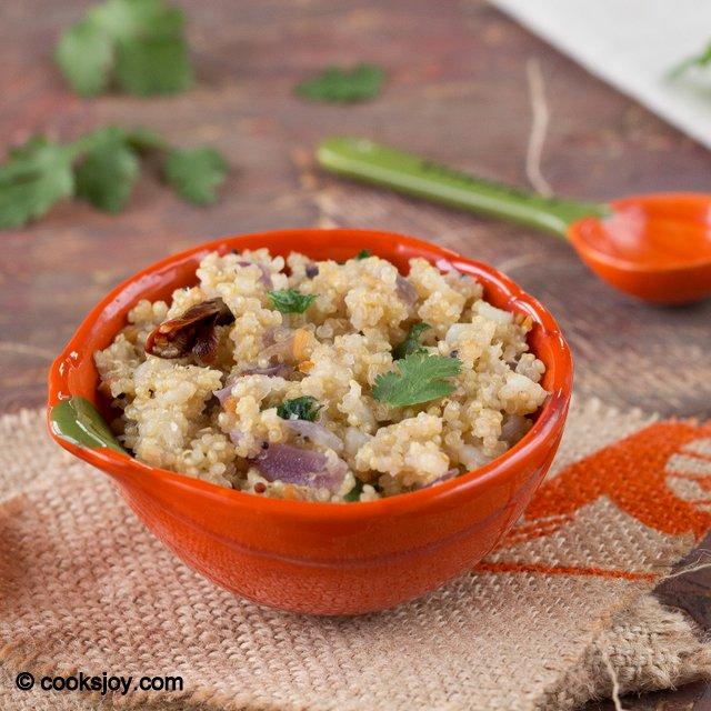 Quinoa Upma | Cooks Joy