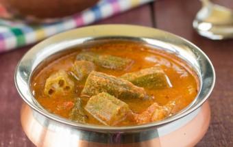 Okra Coconut Kuzhambu | Cooks Joy