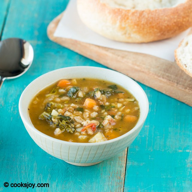 Farro Vegetable Soup | Cooks Joy