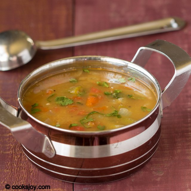 Okra Lentil Stew (Sambar) | Cooks Joy