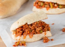 """Vegan"" Sloppy Joes (Soya Chunk Sloppy Joes)"