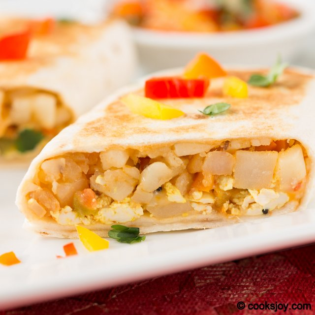 Tofu Potato Burrito | Cooks Joy