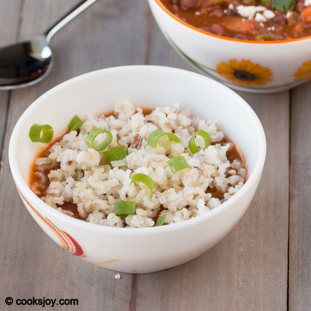 Brown Rice Red Bean Soup | Cooks Joy
