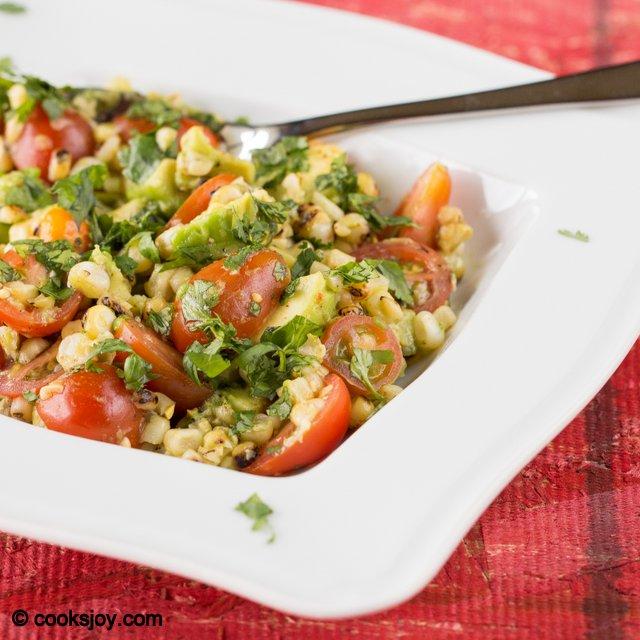 Grilled Corn Tomato Salad | Cooks Joy