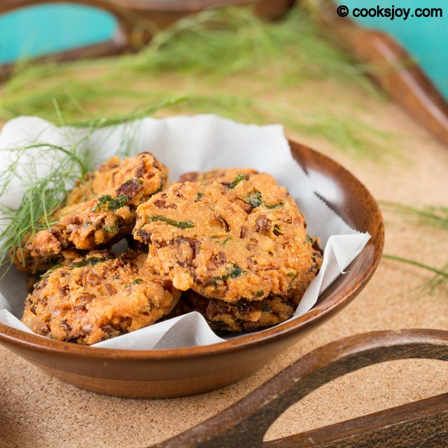 Fennel Cabbage Masala Vadai | Cooks Joy