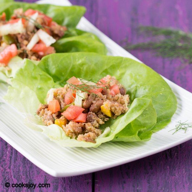 Vegetarian Lettuce Wrap | Cooks Joy