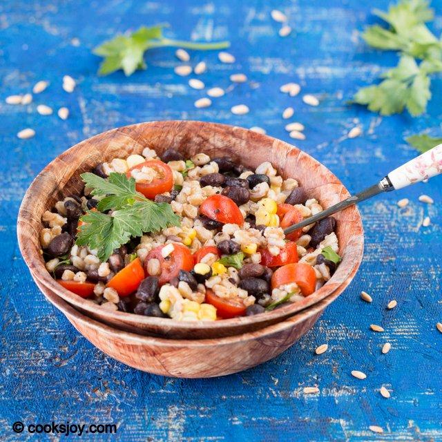 Farro Black Bean Salad | Cooks Joy