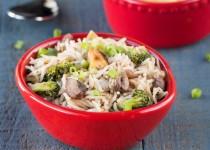 Mushroom Tofu Broccoli Rice