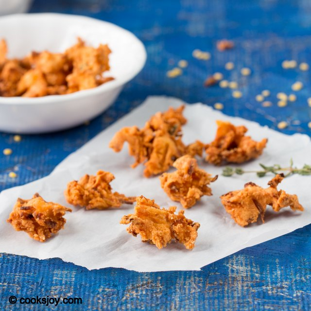 Moong Flour Onion Pakoda | Cooks Joy