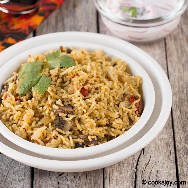 Mushoom Biriyani | Cooks Joy