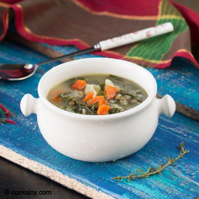 Potato Kale Lentil Soup | Cooks Joy