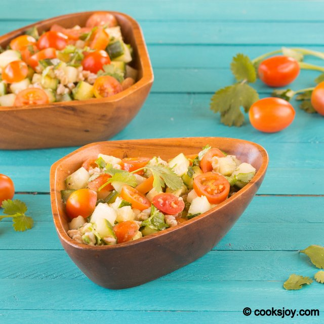 Farro Cucumber Tomato Salad | Cooks Joy