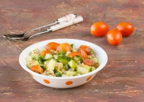 Farro Cucumber Tomato Salad