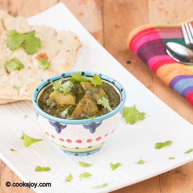 Potato Spinach Gravy | Cooks Joy