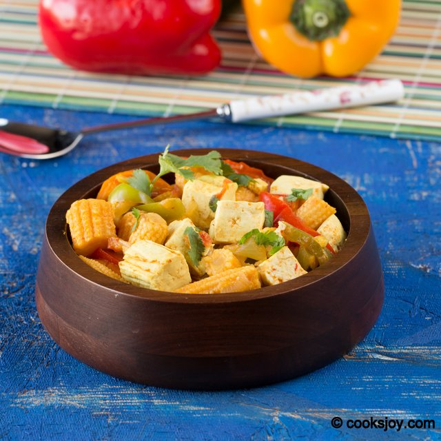 Tofu Bell Pepper Curry | Cooks Joy