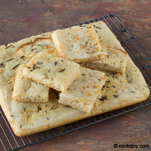 Sourdough Focaccia with Garlic and Rosemary | Cooks Joy