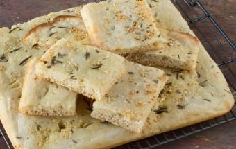 Sourdough Focaccia with Garlic and Rosemary | Cooks Joy