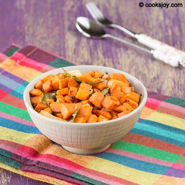 Sweet Potato Poriyal | Cooks Joy