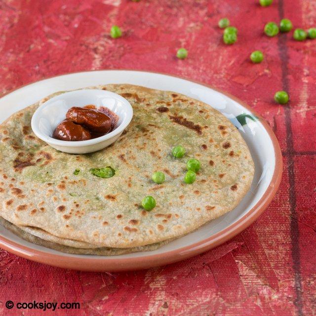 Peas Paratha | Cooks Joy