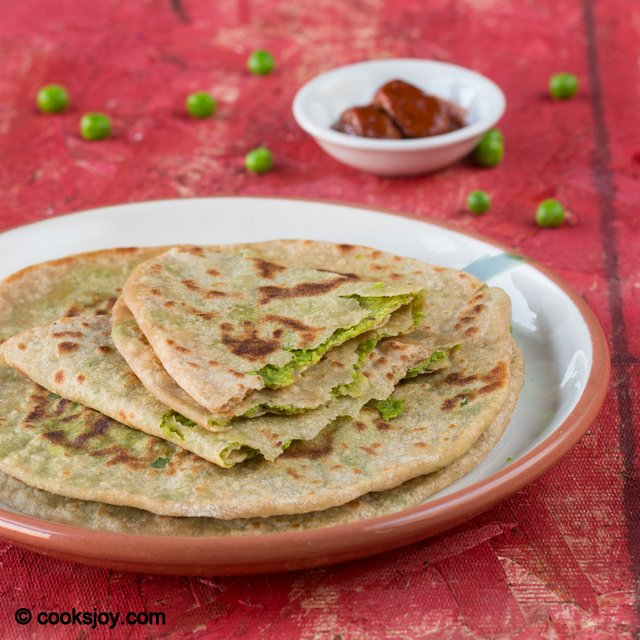 Sweet Peas Paratha | Cooks Joy