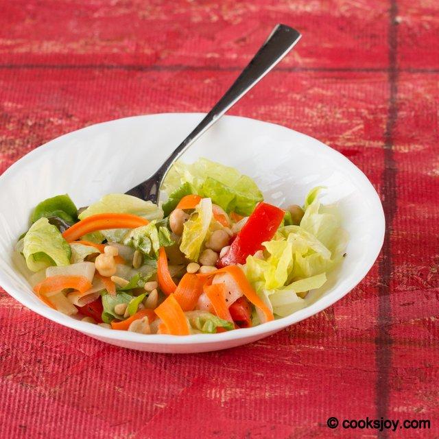 Butter Lettuce Chickpea Salad | Cooks Joy