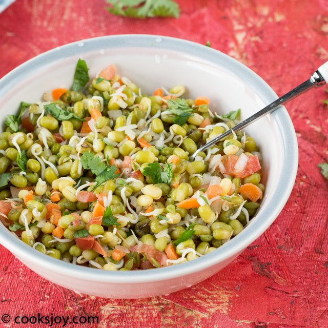 Moong Sprouts Chaat | Cooks Joy