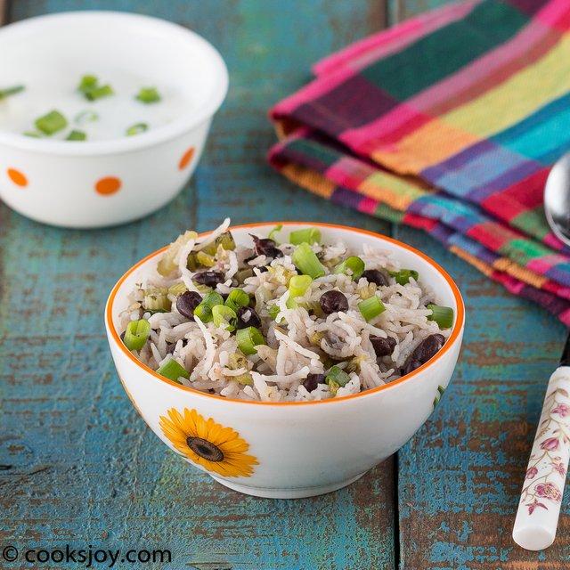 Celery Black Bean Rice | Cooks Joy
